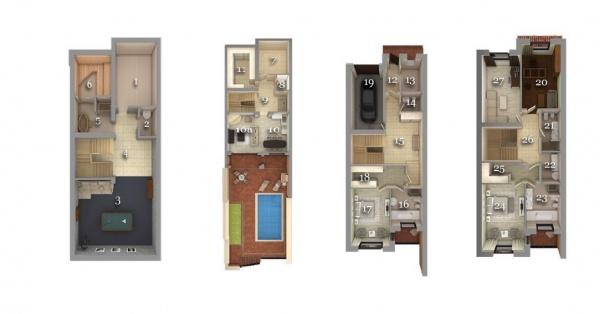 Планировки домов 400 м^2